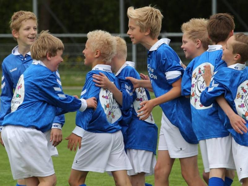 jongens Heilig Hartschool in actie